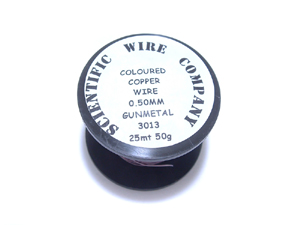 0.50mm Gunmetal Coloured Wire